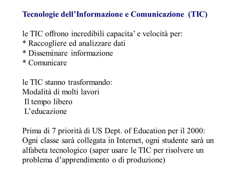 Tecnologie dell'Informazione e Comunicazione (TIC)