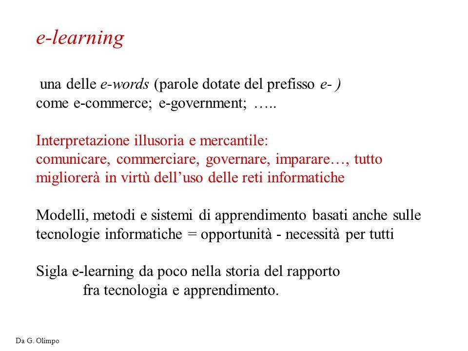 e-learning una delle e-words (parole dotate del prefisso e- )