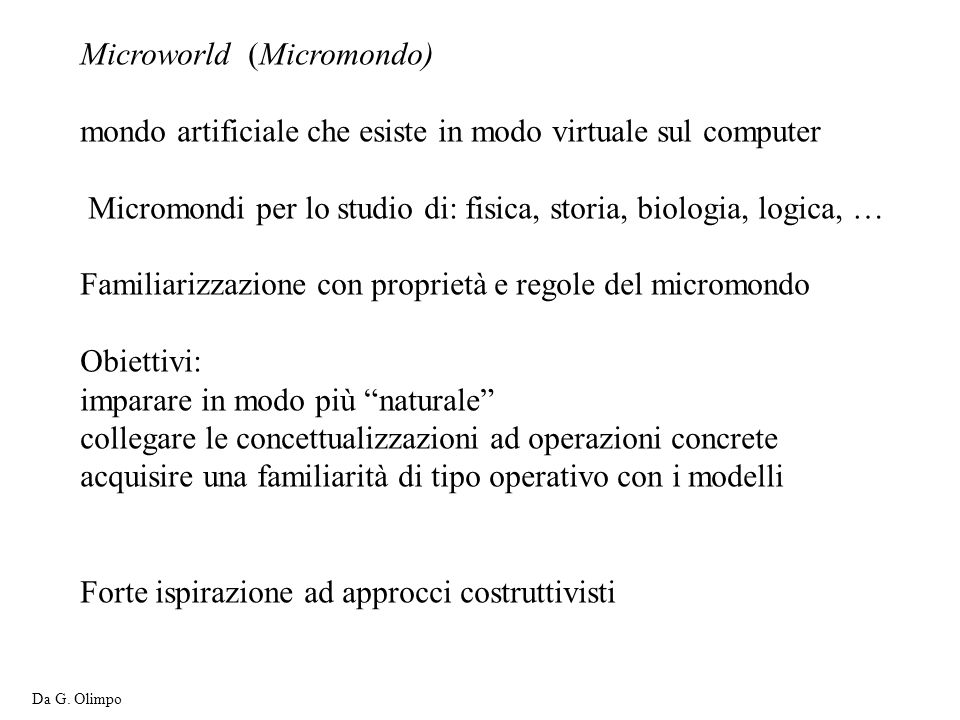 Microworld (Micromondo)