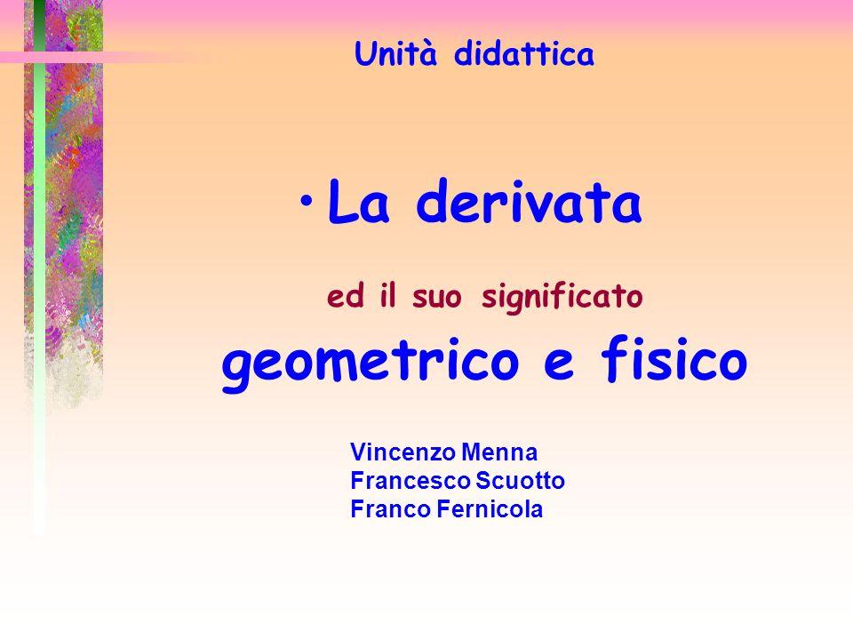 La derivata ed il suo significato geometrico e fisico