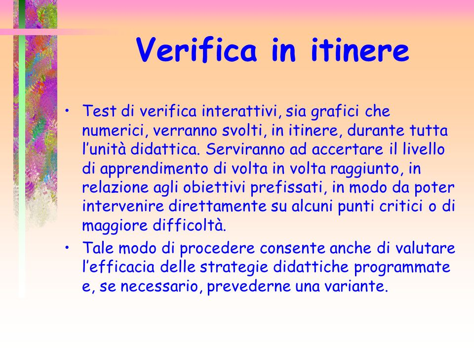 Verifica in itinere