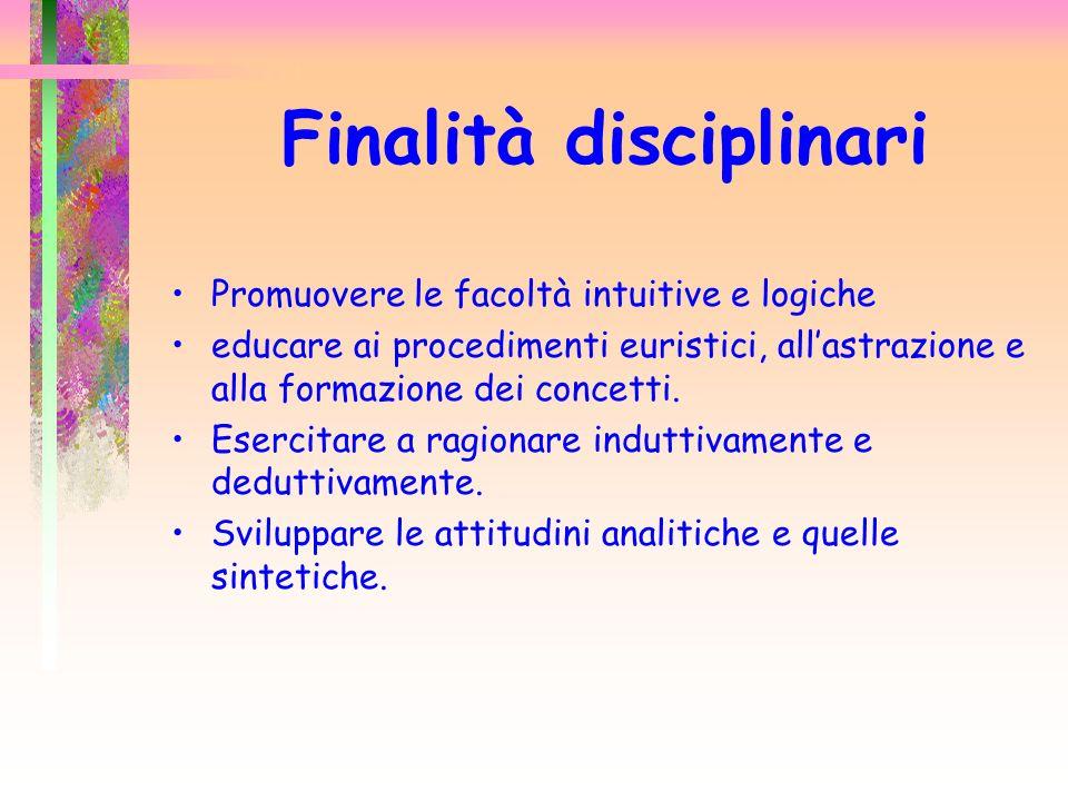 Finalità disciplinari
