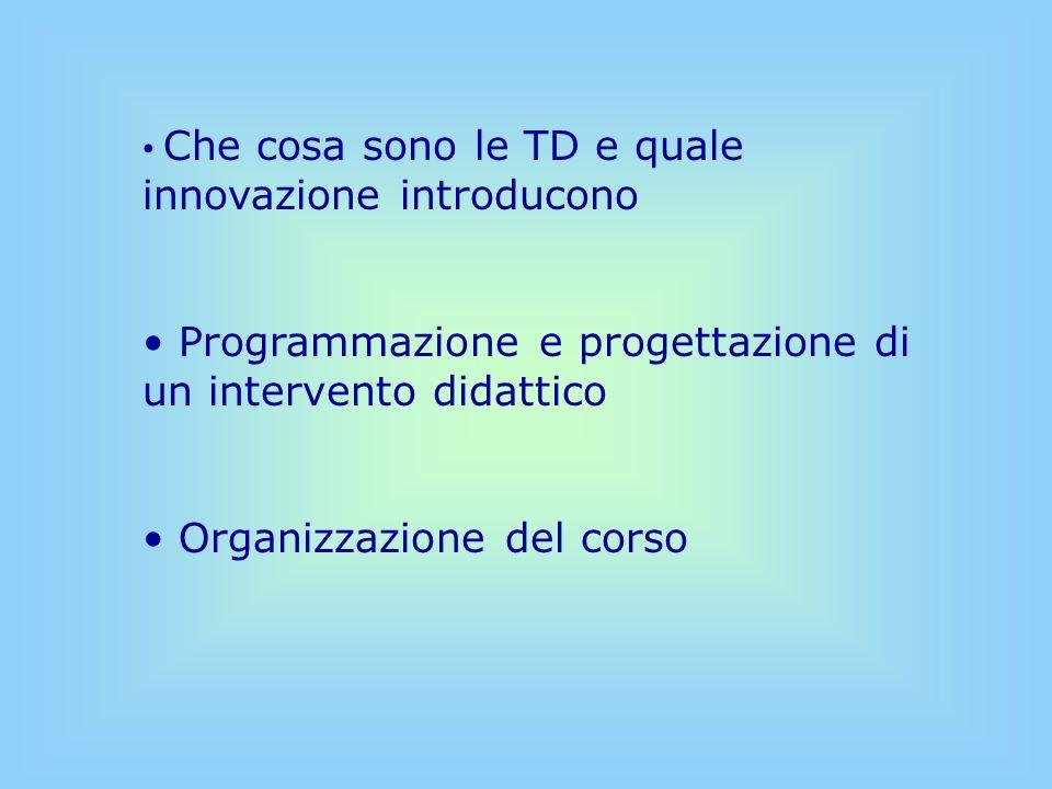 Programmazione e progettazione di un intervento didattico