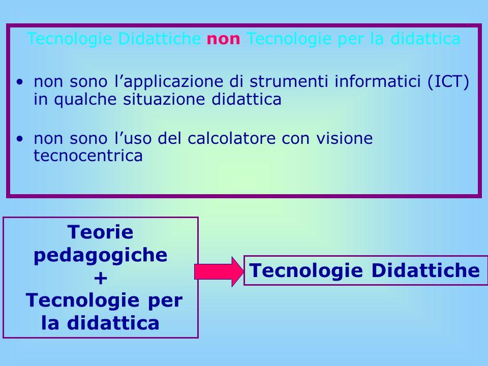 Teorie pedagogiche + Tecnologie per la didattica