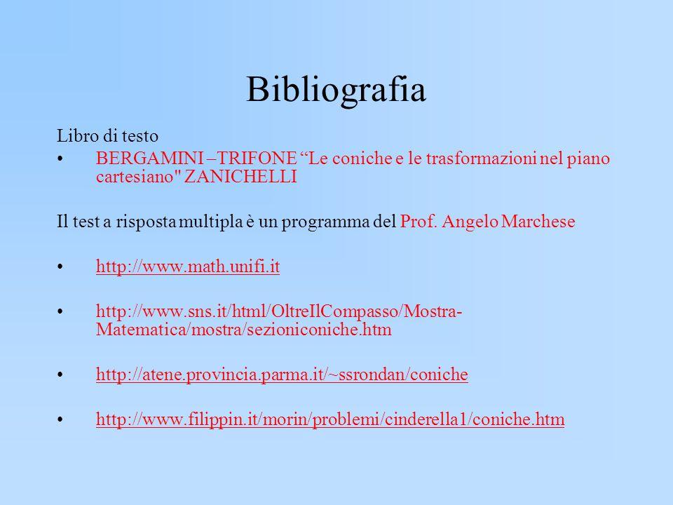 Bibliografia Libro di testo