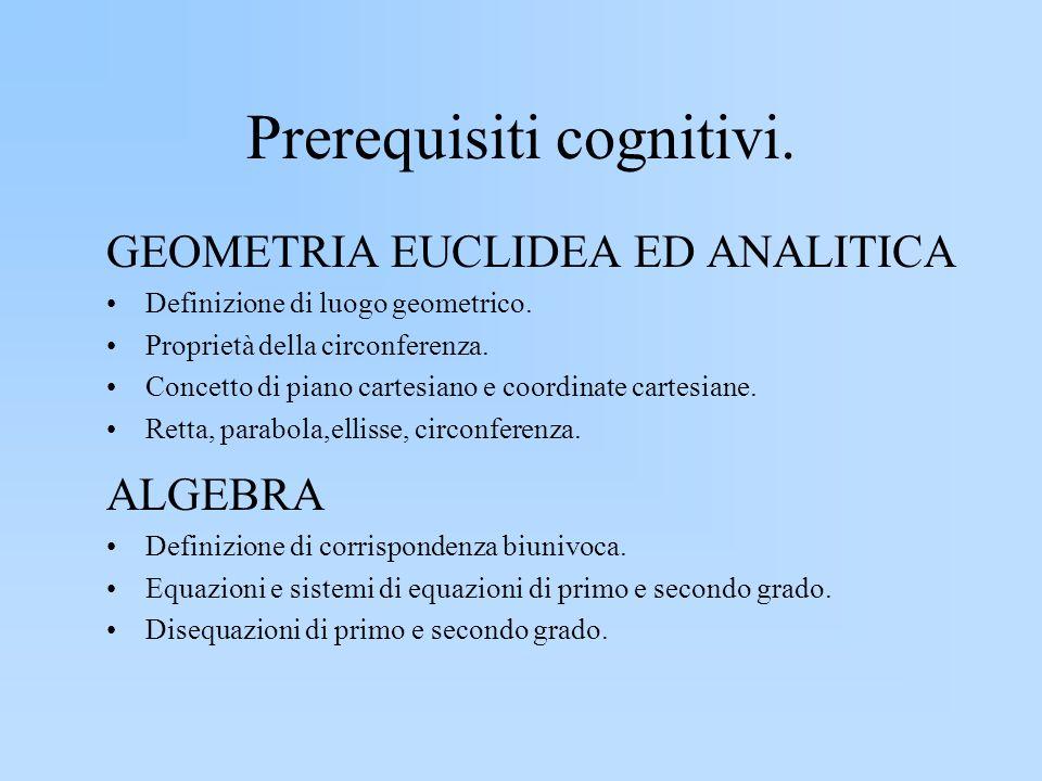 Prerequisiti cognitivi.