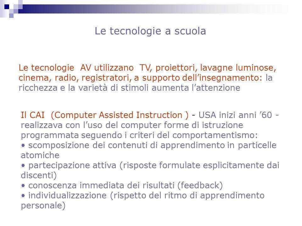 Le tecnologie a scuola