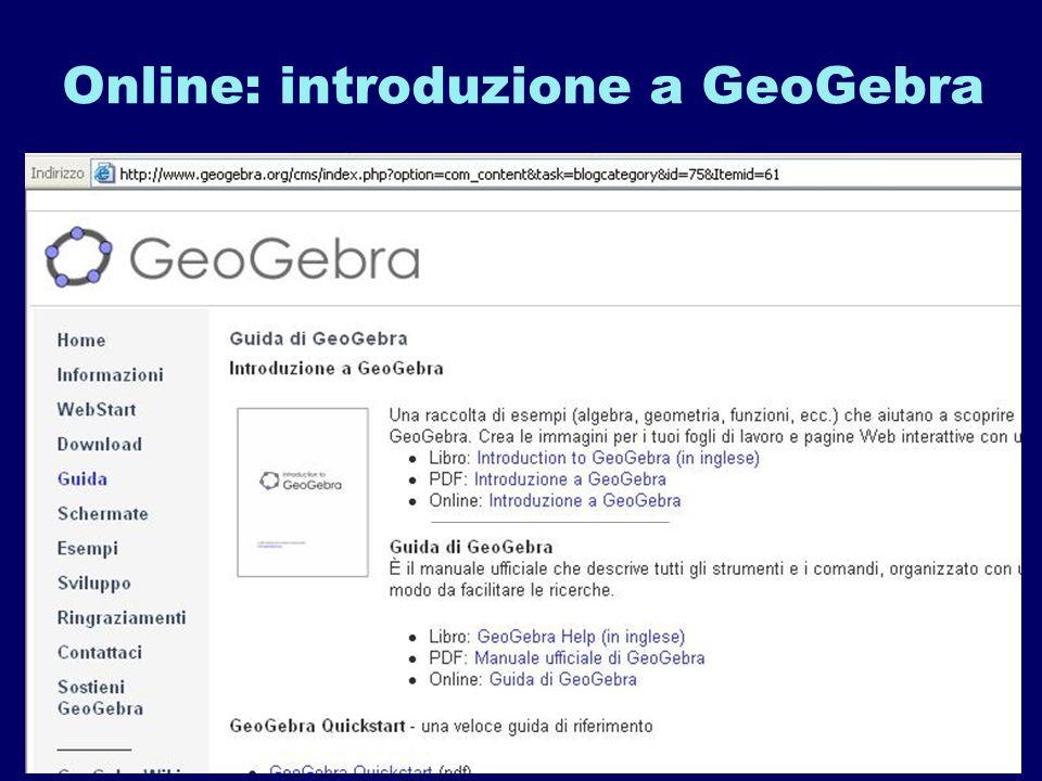Online: introduzione a GeoGebra