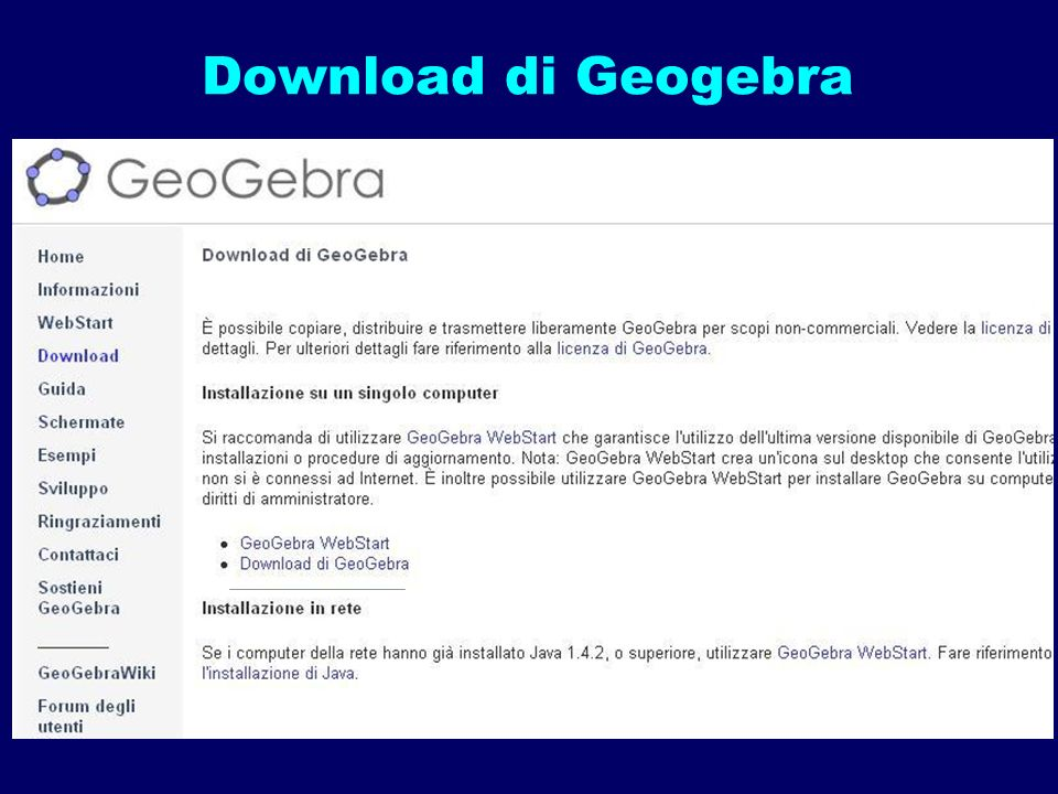 Download di Geogebra