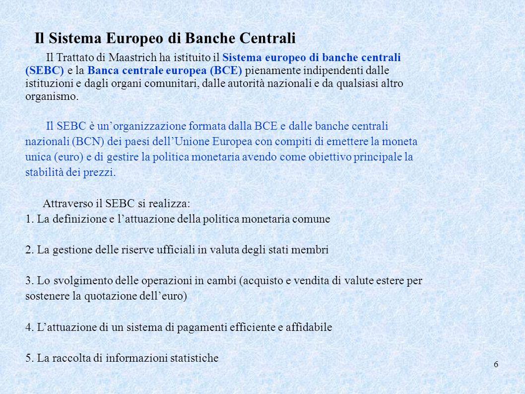 Il Sistema Europeo di Banche Centrali