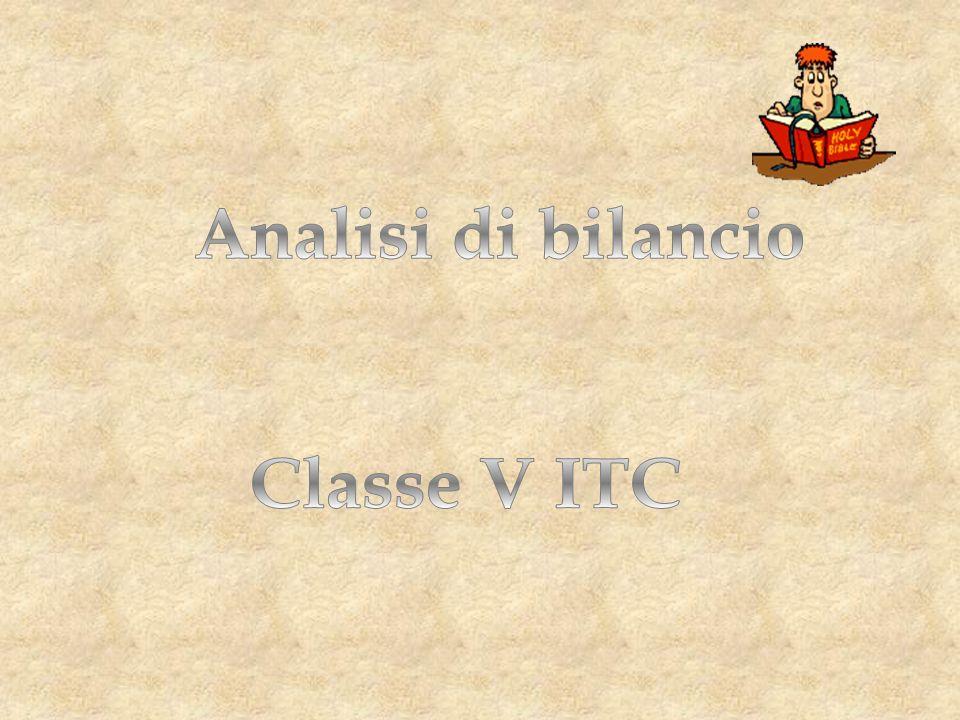 Analisi di bilancio Classe V ITC