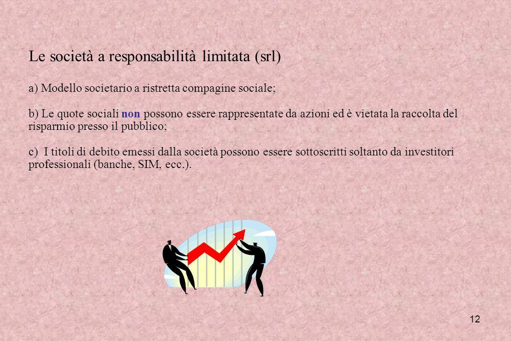 Le società a responsabilità limitata (srl)