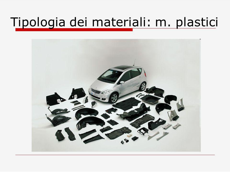 Tipologia dei materiali: m. plastici