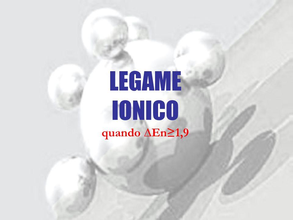 LEGAME IONICO quando ∆En≥1,9