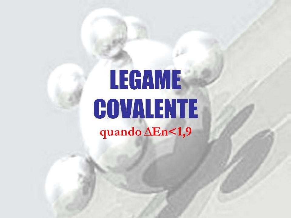 LEGAME COVALENTE quando ∆En<1,9
