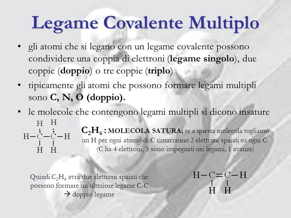 Legame Covalente Multiplo