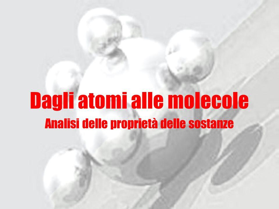 Dagli atomi alle molecole