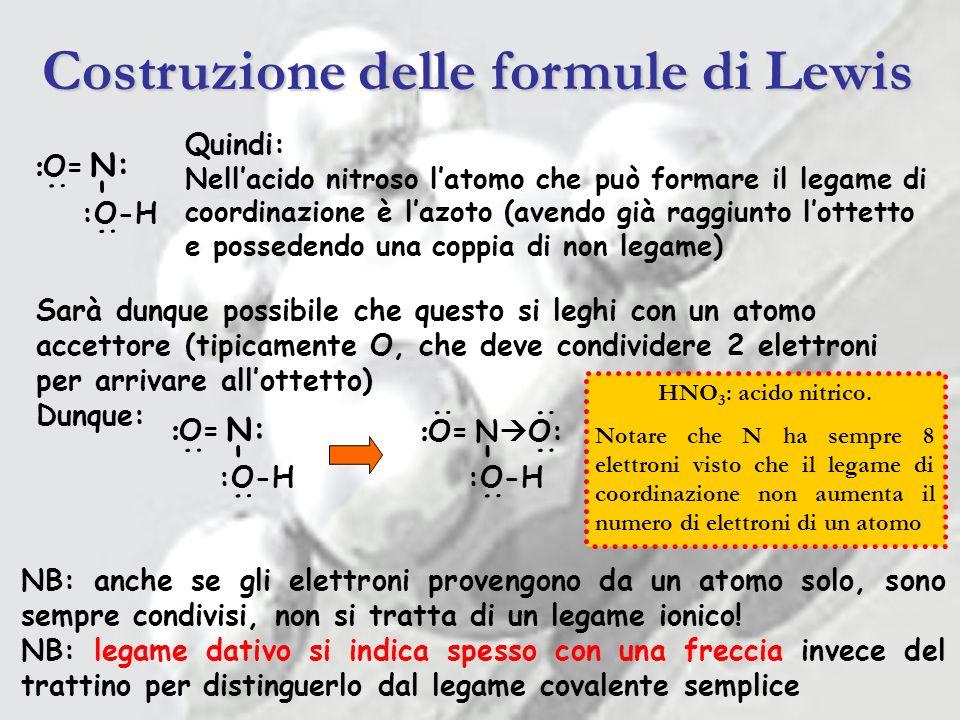 Costruzione delle formule di Lewis