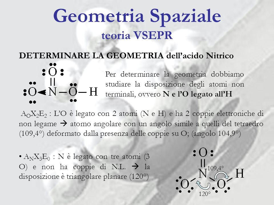 Geometria Spaziale teoria VSEPR