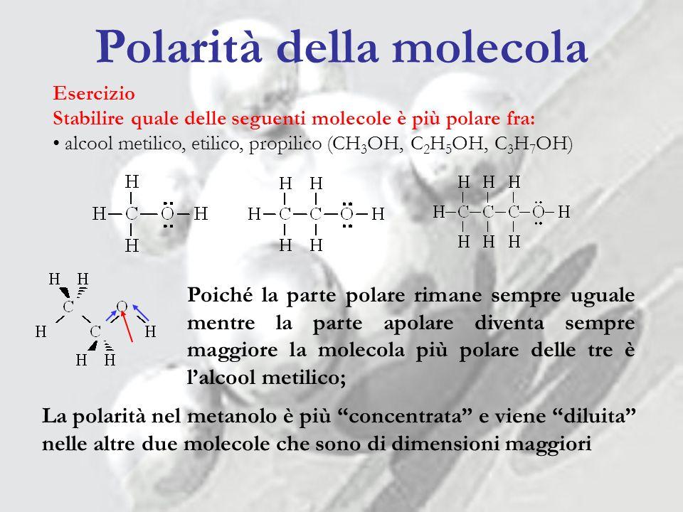 Polarità della molecola