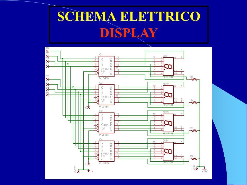 SCHEMA ELETTRICO DISPLAY