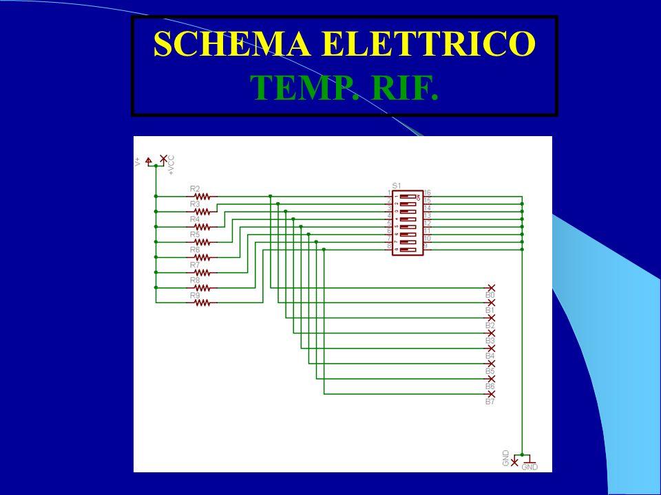 SCHEMA ELETTRICO TEMP. RIF.