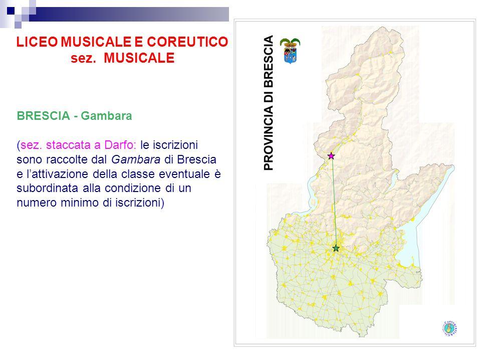 LICEO MUSICALE E COREUTICO sez. MUSICALE