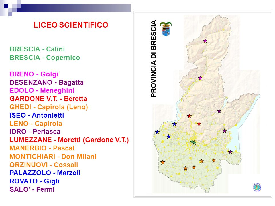 LICEO SCIENTIFICO BRESCIA - Calini BRESCIA - Copernico BRENO - Golgi
