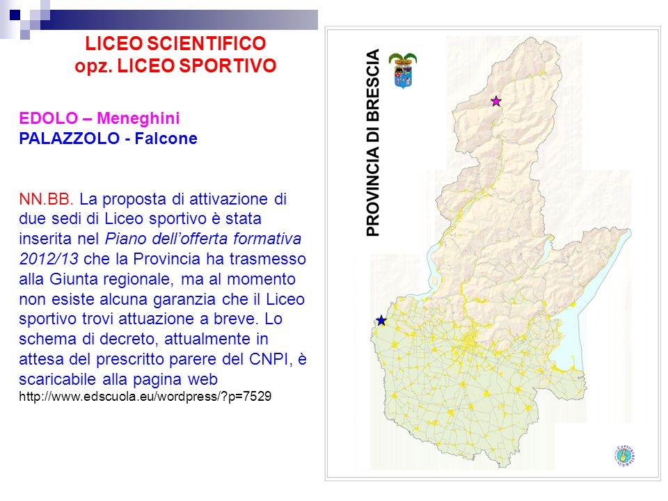 LICEO SCIENTIFICO opz. LICEO SPORTIVO