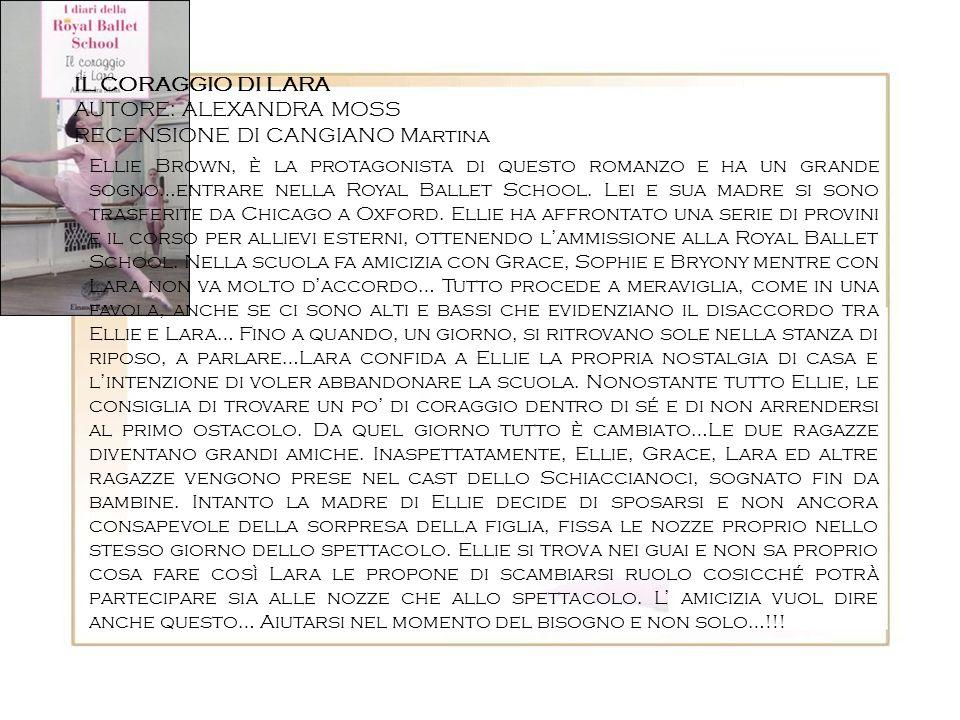 AUTORE: ALEXANDRA MOSS RECENSIONE DI CANGIANO Martina