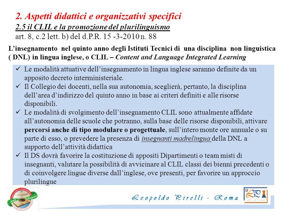 2. Aspetti didattici e organizzativi specifici 2
