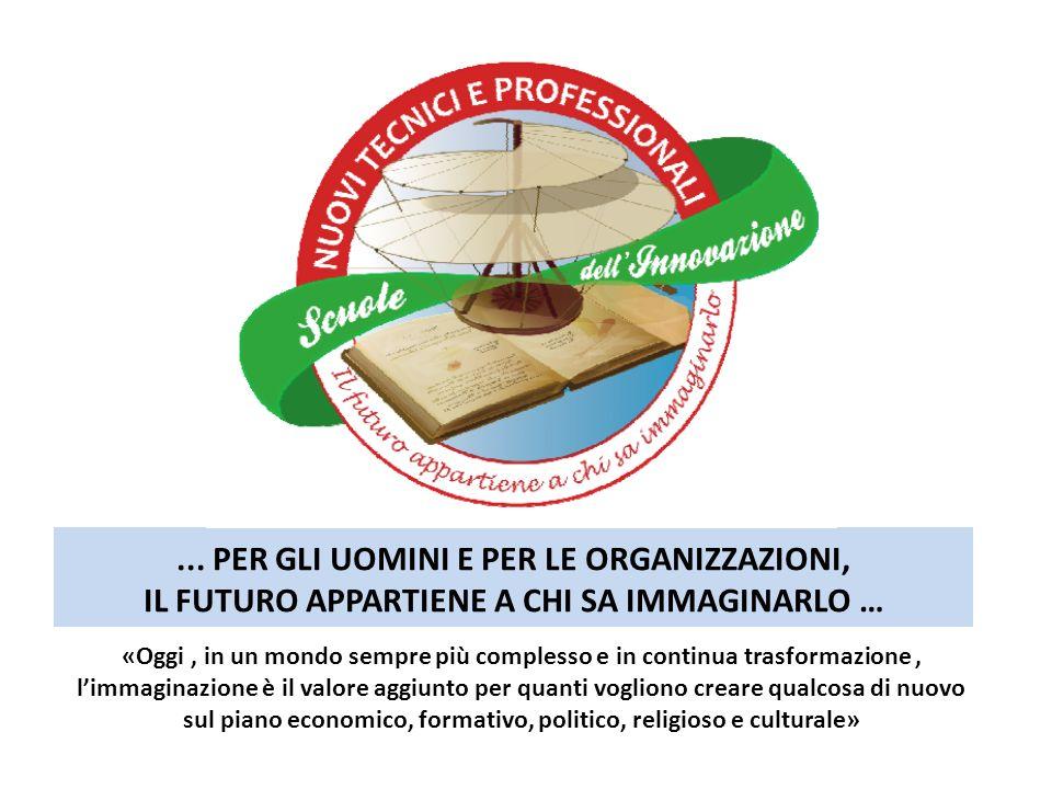 ... PER GLI UOMINI E PER LE ORGANIZZAZIONI, IL FUTURO APPARTIENE A CHI SA IMMAGINARLO …