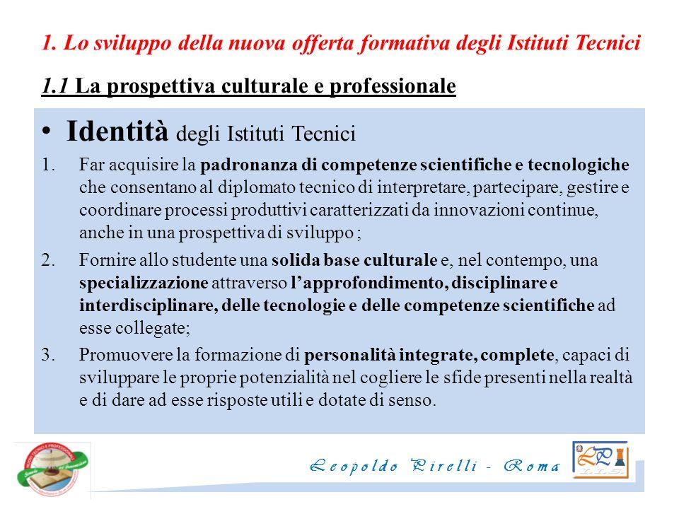 Identità degli Istituti Tecnici