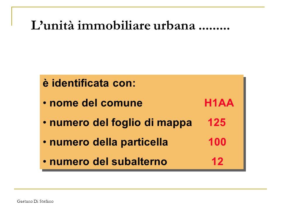 L'unità immobiliare urbana .........
