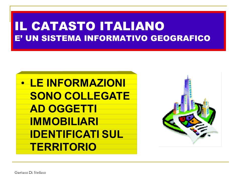 IL CATASTO ITALIANO E' UN SISTEMA INFORMATIVO GEOGRAFICO