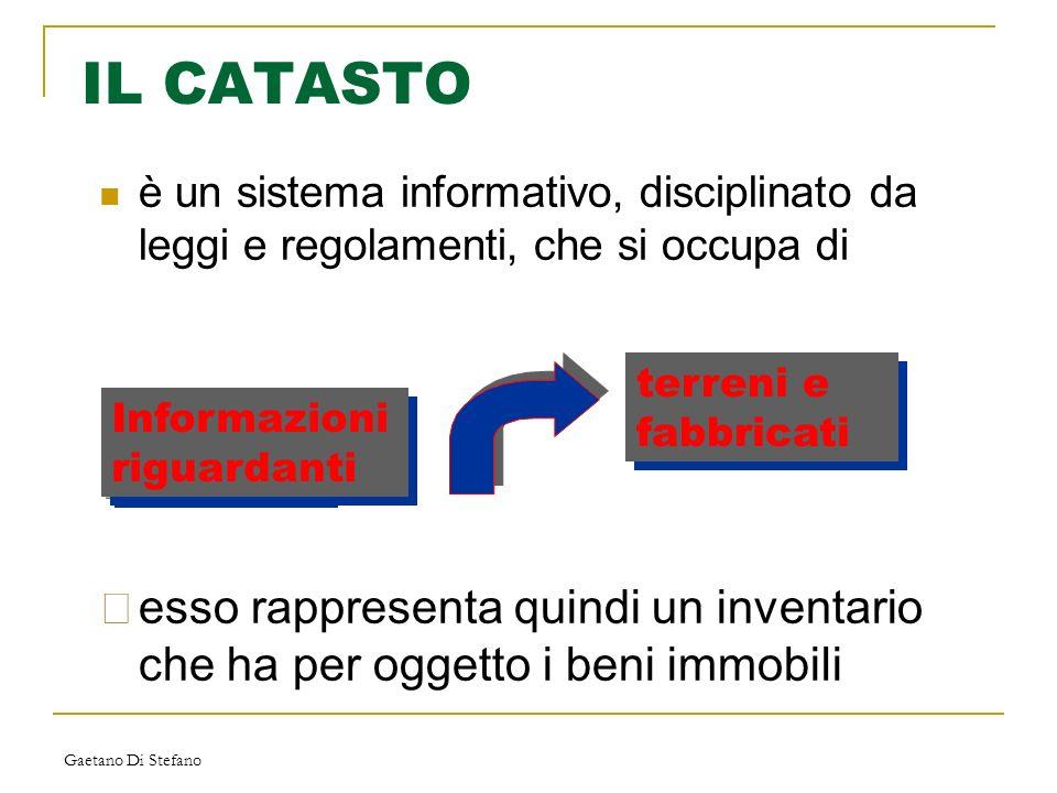 IL CATASTO è un sistema informativo, disciplinato da leggi e regolamenti, che si occupa di. terreni e fabbricati.