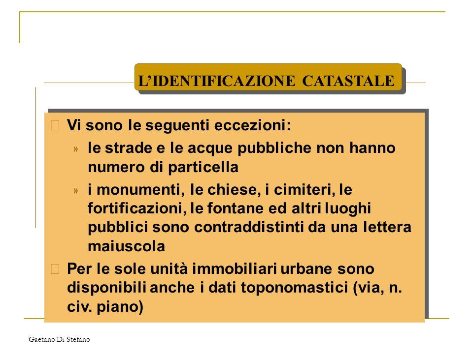 L'IDENTIFICAZIONE CATASTALE