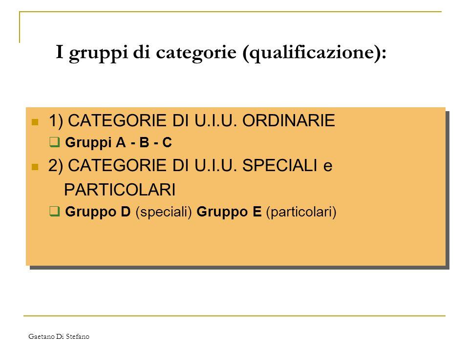 I gruppi di categorie (qualificazione):