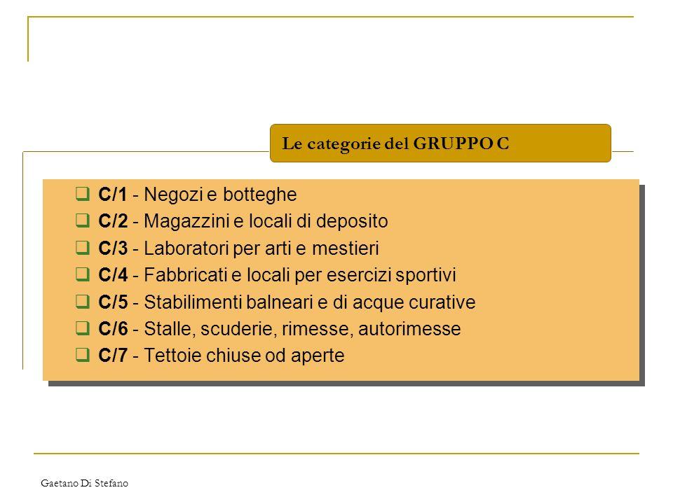 Le categorie del GRUPPO C