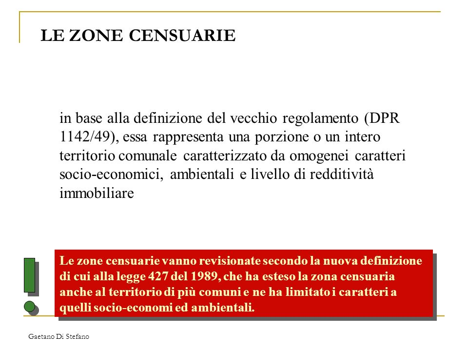 LE ZONE CENSUARIE