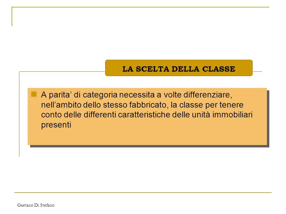 LA SCELTA DELLA CLASSE