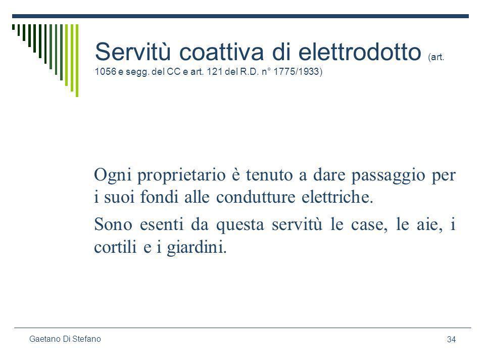 Servitù coattiva di elettrodotto (art. 1056 e segg. del CC e art