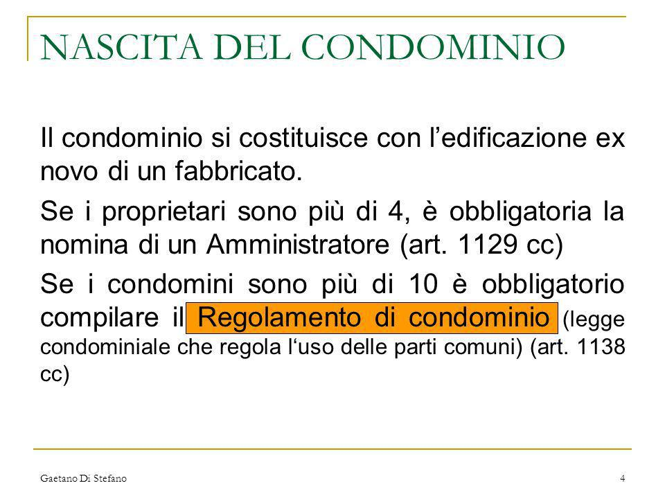 NASCITA DEL CONDOMINIO