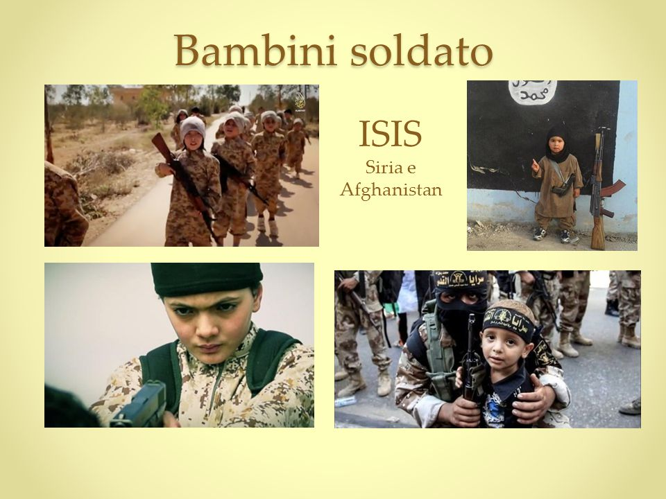 Bambini soldato ISIS Siria e Afghanistan