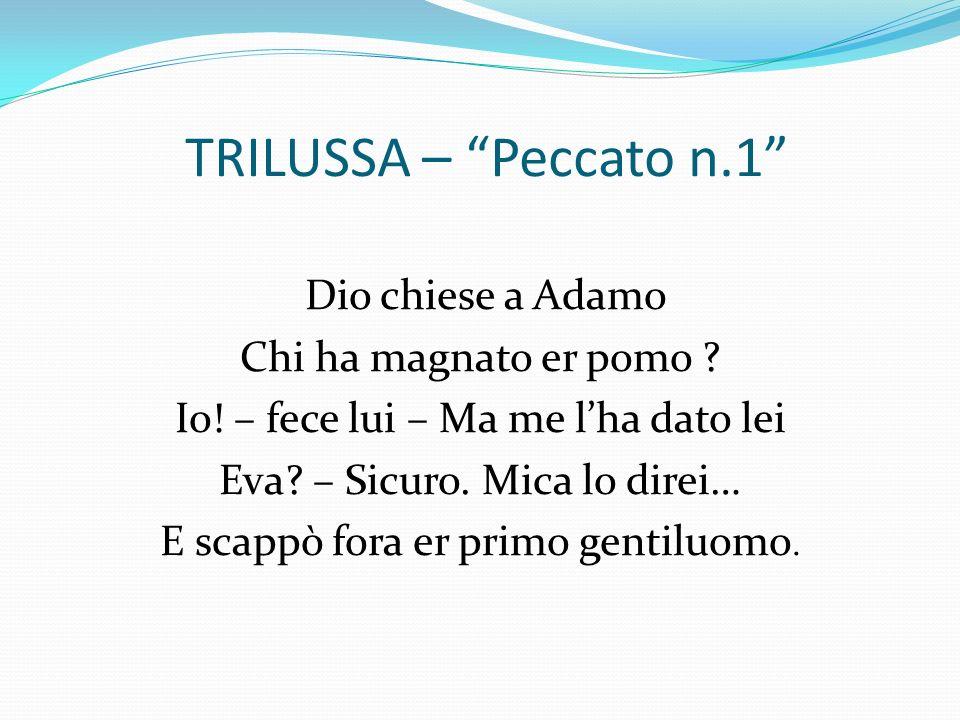 TRILUSSA – Peccato n.1