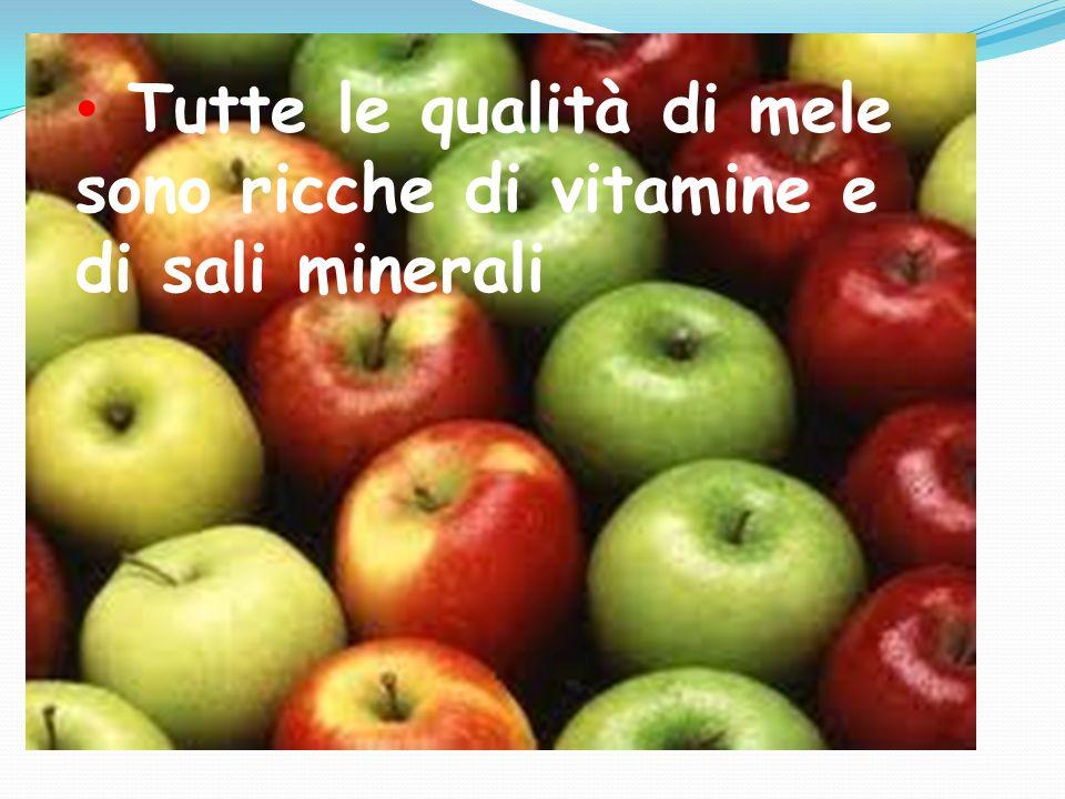 Tutte le qualità di mele sono ricche di vitamine e di sali minerali