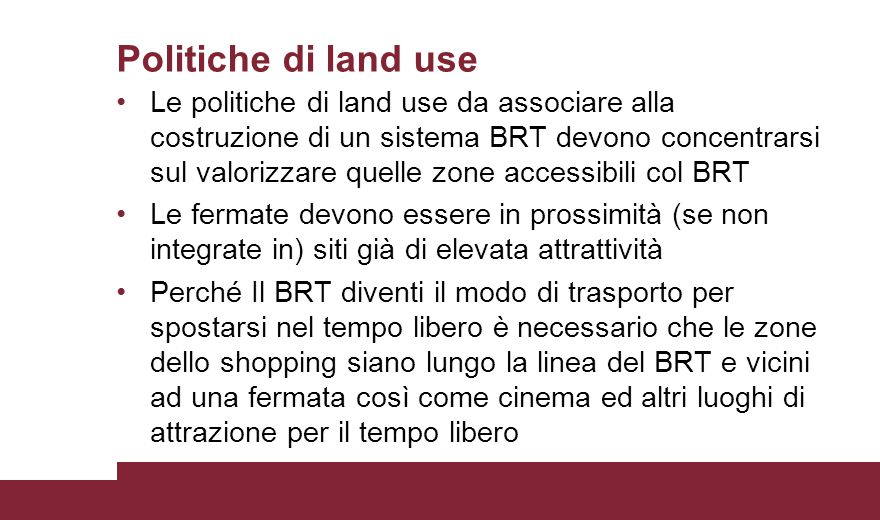 Politiche di land use