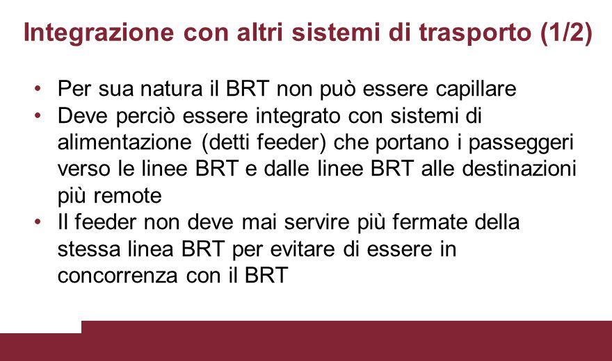 Integrazione con altri sistemi di trasporto (1/2)