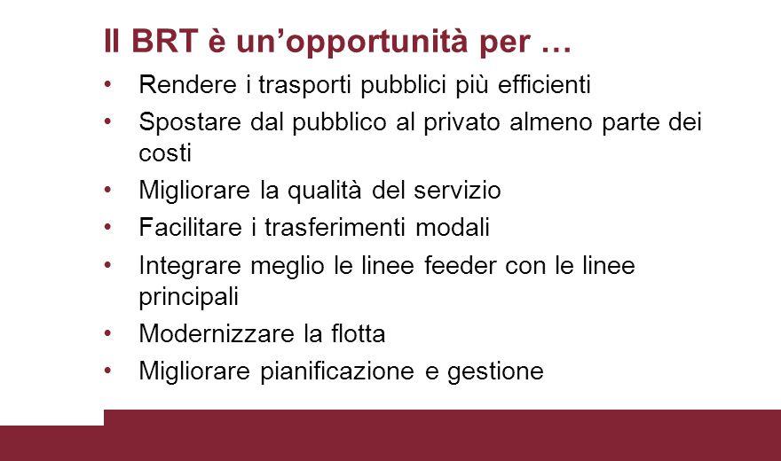 Il BRT è un'opportunità per …