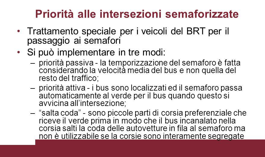 Priorità alle intersezioni semaforizzate